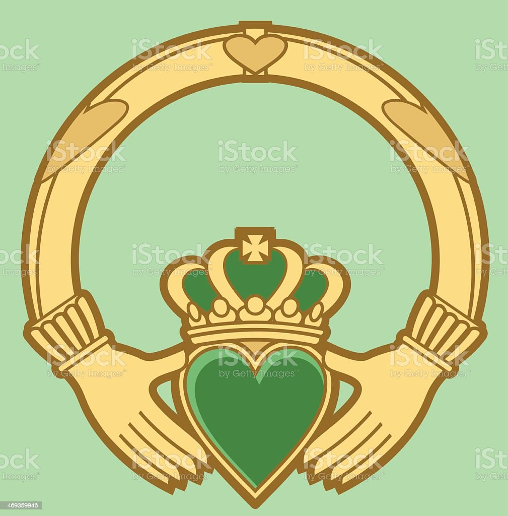 royalty free claddagh clip art vector images illustrations istock rh istockphoto com claddagh symbol clip art Claddagh Stencil