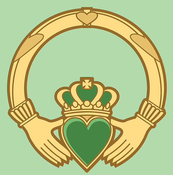 Royalty Free Claddagh Clip Art Vector Images Illustrations Istock
