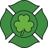 Irish Firefighter Maltese Cross