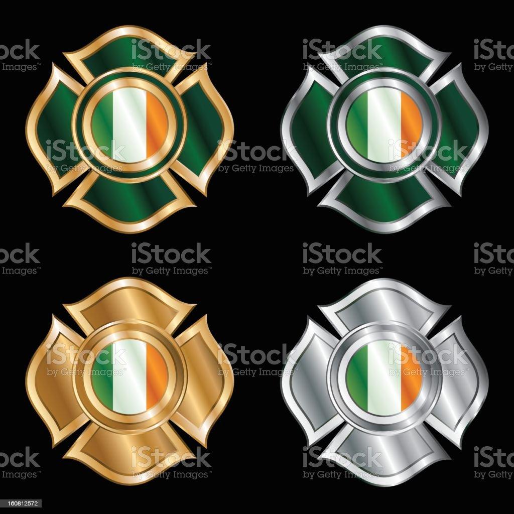 Irish Firemen Badges royalty-free stock vector art
