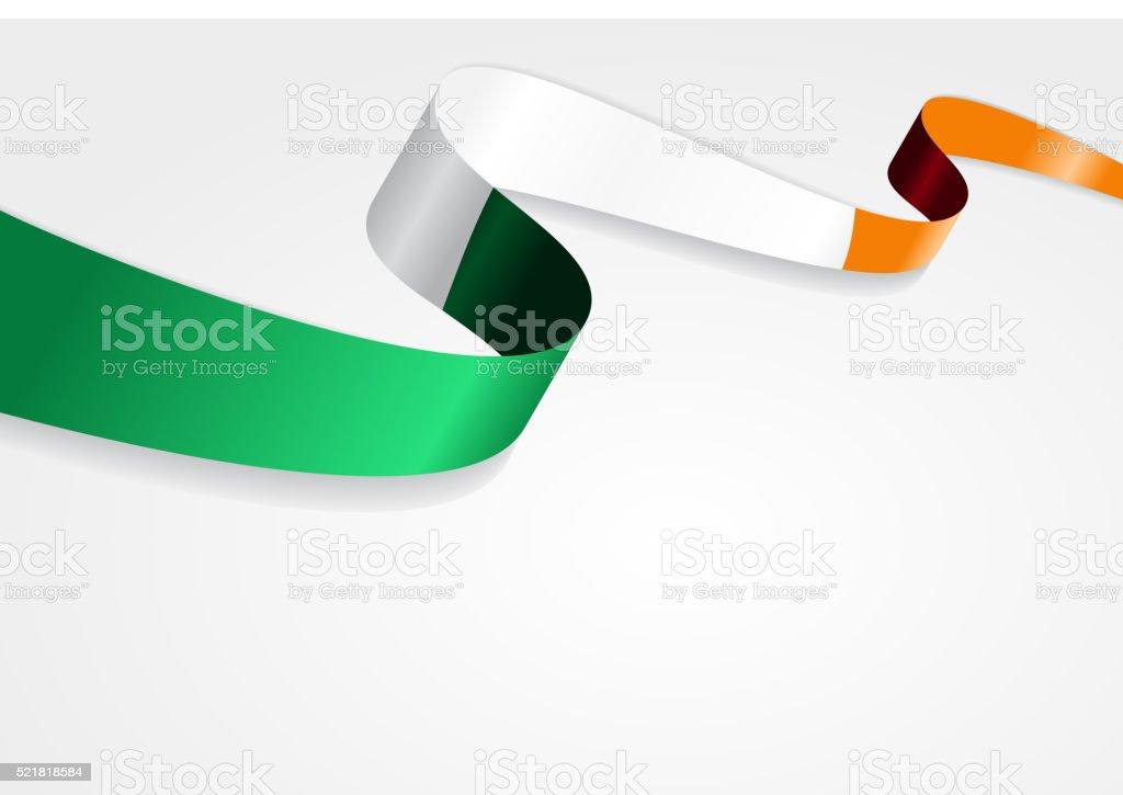 Bandera fondo irlandés. Ilustración vectorial - ilustración de arte vectorial