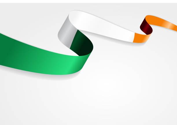 ilustraciones, imágenes clip art, dibujos animados e iconos de stock de bandera fondo irlandés. ilustración vectorial - bandera irlandesa