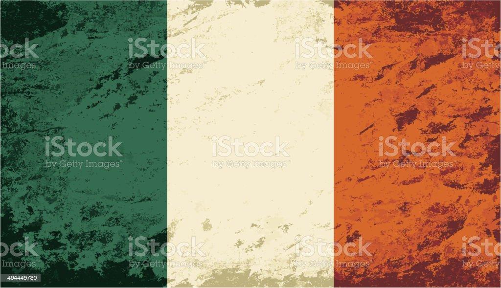 Bandera irlandesa. Grunge fondo. Ilustración vectorial - ilustración de arte vectorial