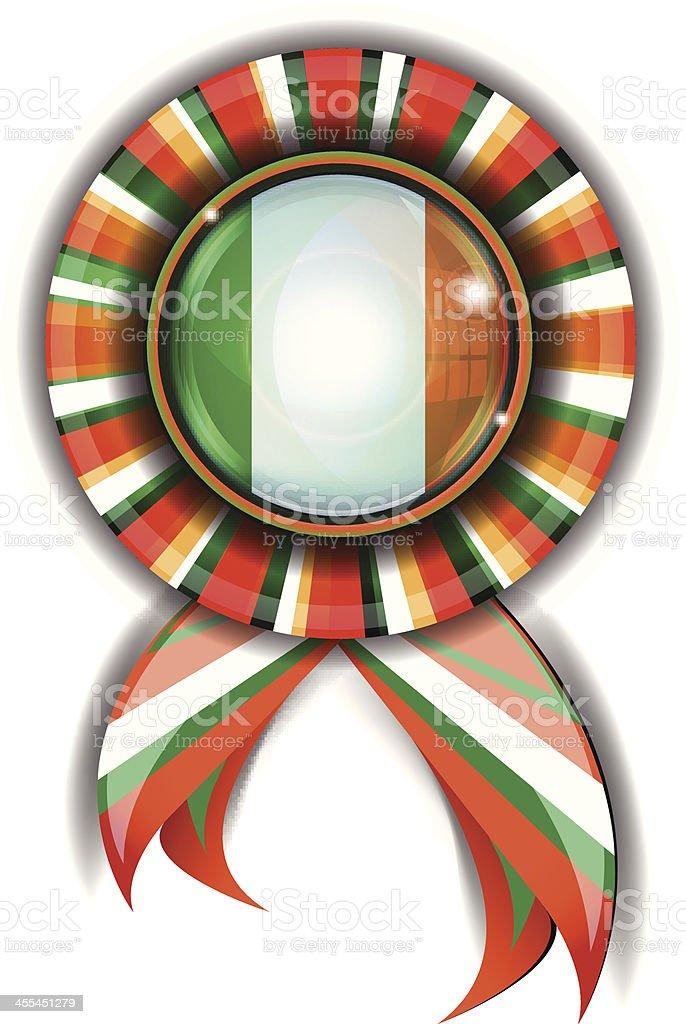 Irish Flag Ribbon royalty-free stock vector art