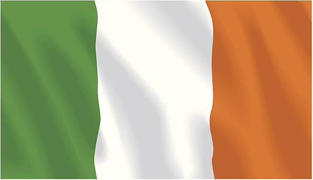 ilustraciones, imágenes clip art, dibujos animados e iconos de stock de bandera de la república de irlanda - bandera irlandesa