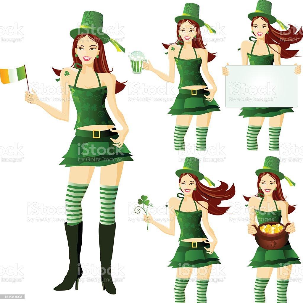 Irish Girl royalty-free irish girl stock vector art & more images of adult