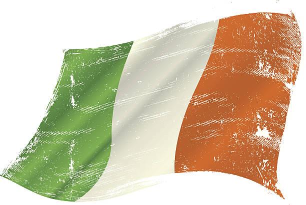 ilustraciones, imágenes clip art, dibujos animados e iconos de stock de bandera de grunge de irlanda - bandera irlandesa