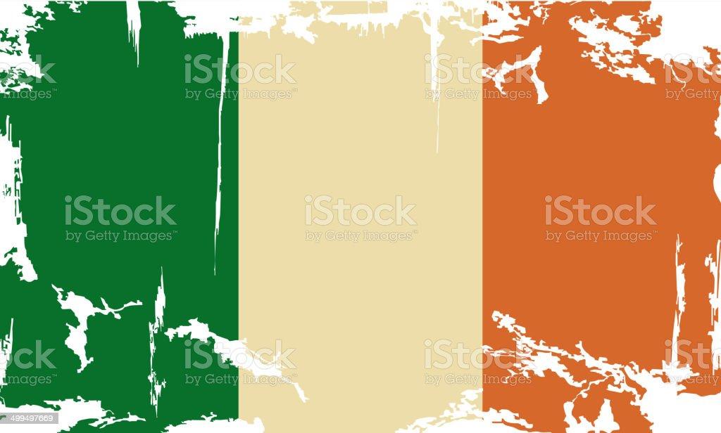 grunge de bandera de Irlanda.  Ilustración vectorial - ilustración de arte vectorial