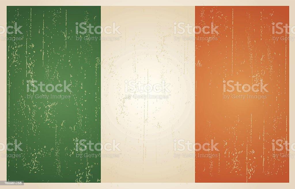 Irish grunge vintage-Flagge – Vektorgrafik