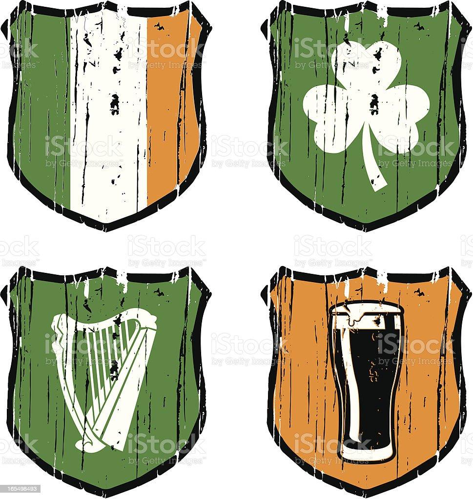irish heraldic royalty-free stock vector art