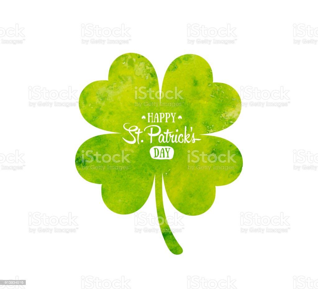Ilustración de Día De Fiesta Irlandesa San Patricio Trébol Verde ...