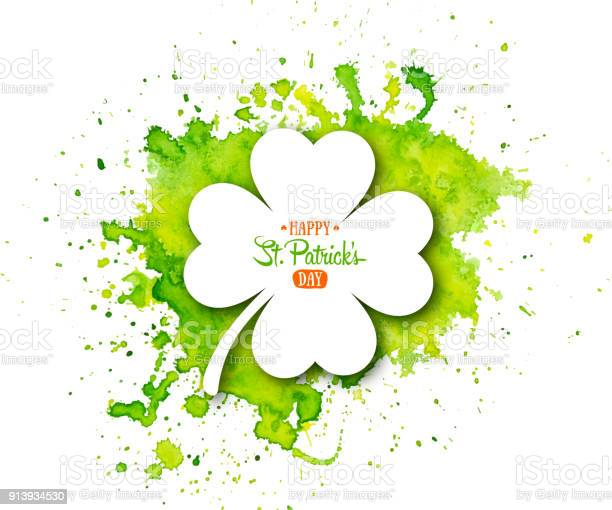 Irish holiday saint patricks day white quatrefoil clover on abstract vector id913934530?b=1&k=6&m=913934530&s=612x612&h=1z6arls8vouywjv5ahspqkprff48o7nbd25 acrneci=