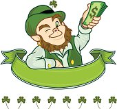 Irish Leprechaun With Plenty Of Green