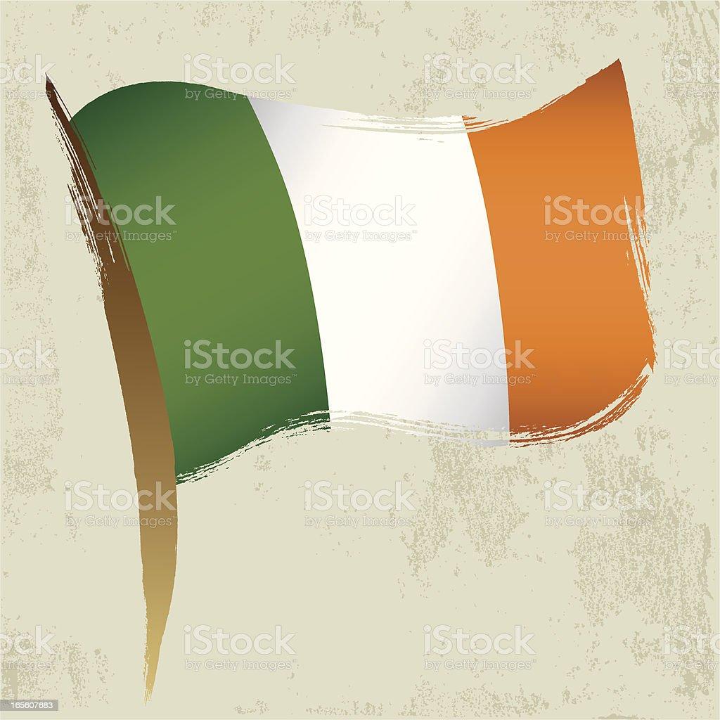Bandera nacional irlandesa - ilustración de arte vectorial