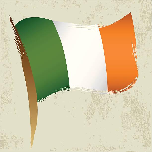 ilustraciones, imágenes clip art, dibujos animados e iconos de stock de bandera nacional irlandesa - bandera irlandesa