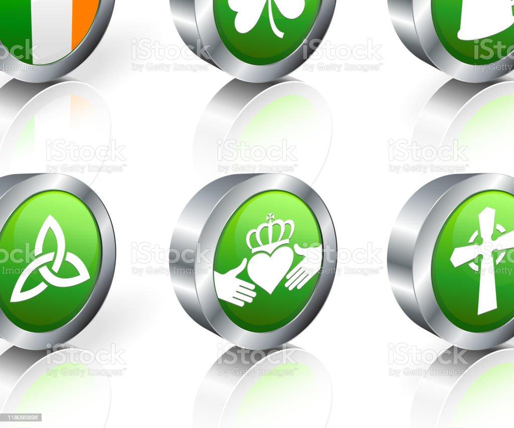Irish royalty free vector artography 3D vector icon set royalty-free stock vector art