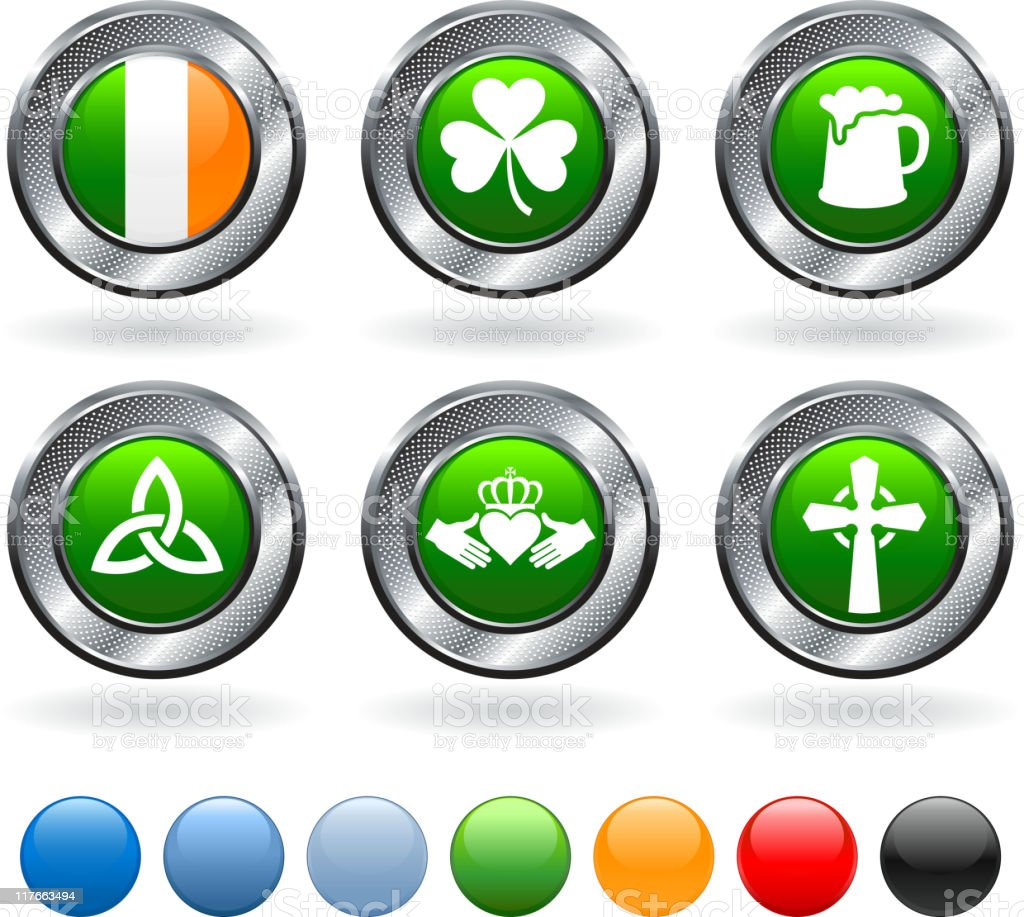 Irish royalty free vector artography set royalty-free stock vector art