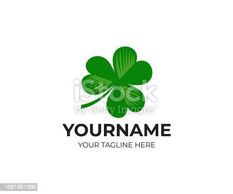 Irish shamrock and clover, logo design. Leaf, leaves and flora, vector design. Nature illustration