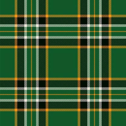 Irish tartan seamless pattern background