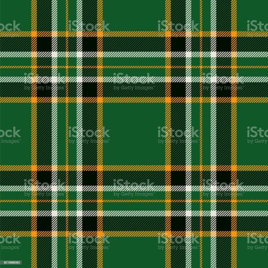 Irish tartan seamless pattern background vector art illustration