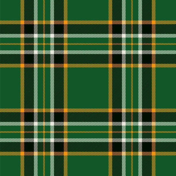 Irish tartan seamless pattern background Irish tartan seamless pattern background. - Illustration tartan pattern stock illustrations