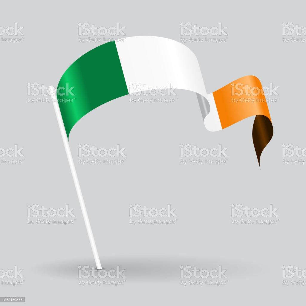 Irish wavy flag. Vector illustration. – Vektorgrafik
