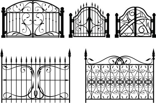 Iron Gate & fence