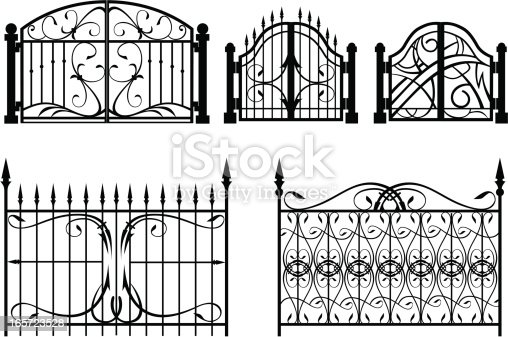 examples of design of forged fences and gates