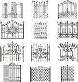 Iron gate line art set