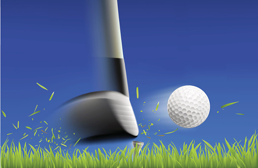 Iron Hitting Golf Ball