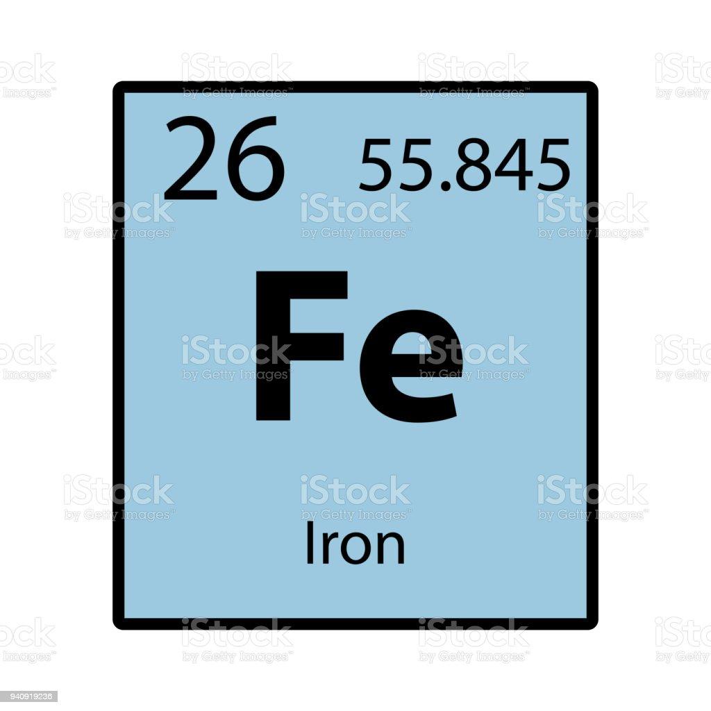 Ilustracin de icono de color de hierro tabla periodica elemento de icono de color de hierro tabla periodica elemento de vector de fondo blanco ilustracin de icono urtaz Image collections