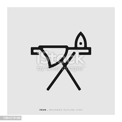 Iron Rounded Line Icon