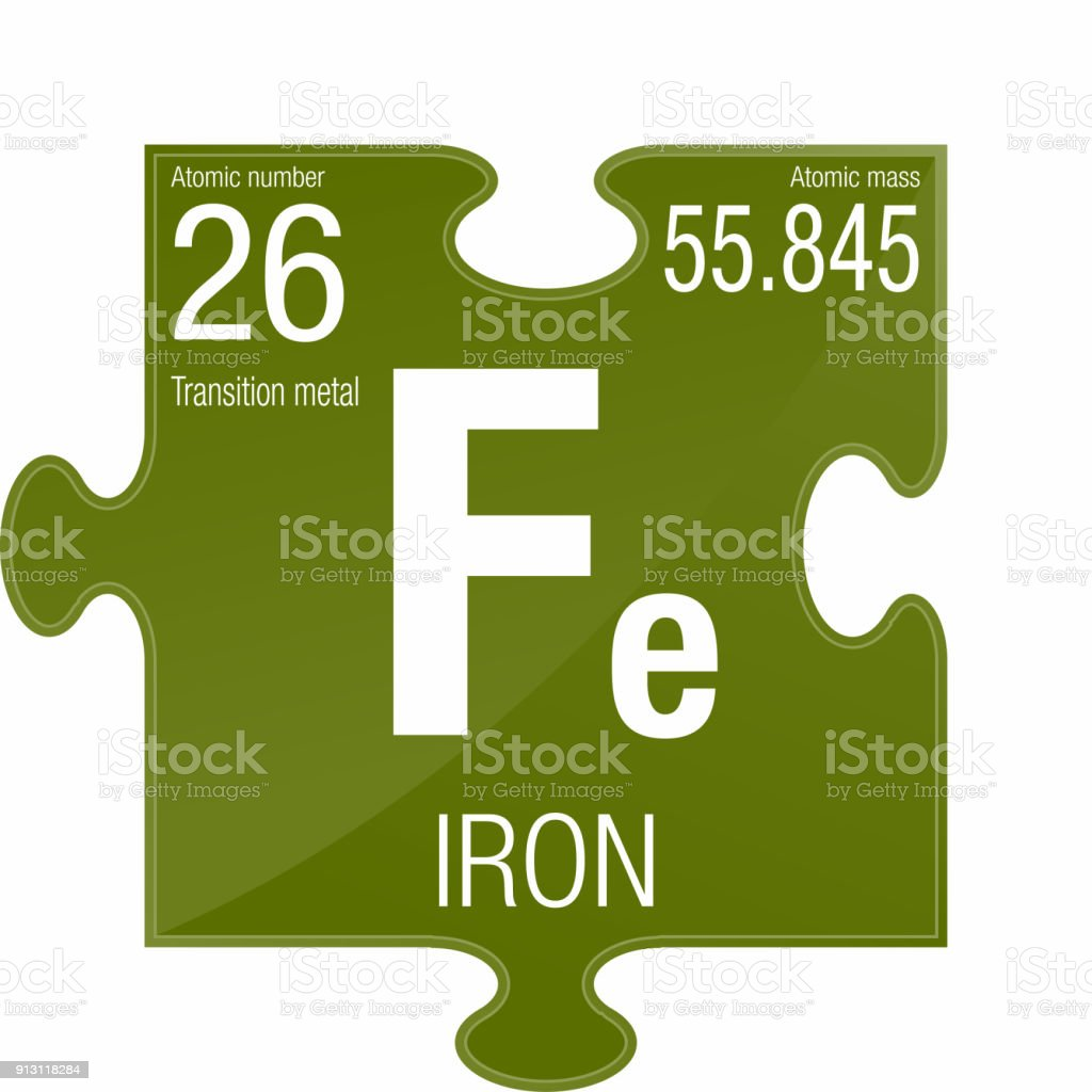 Iron Symbol Element Number 26 Of The Periodic Table Of The Elements