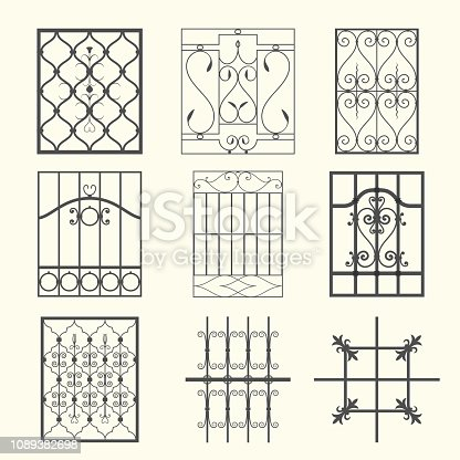 Decorative iron grills suitable for different historical styles.