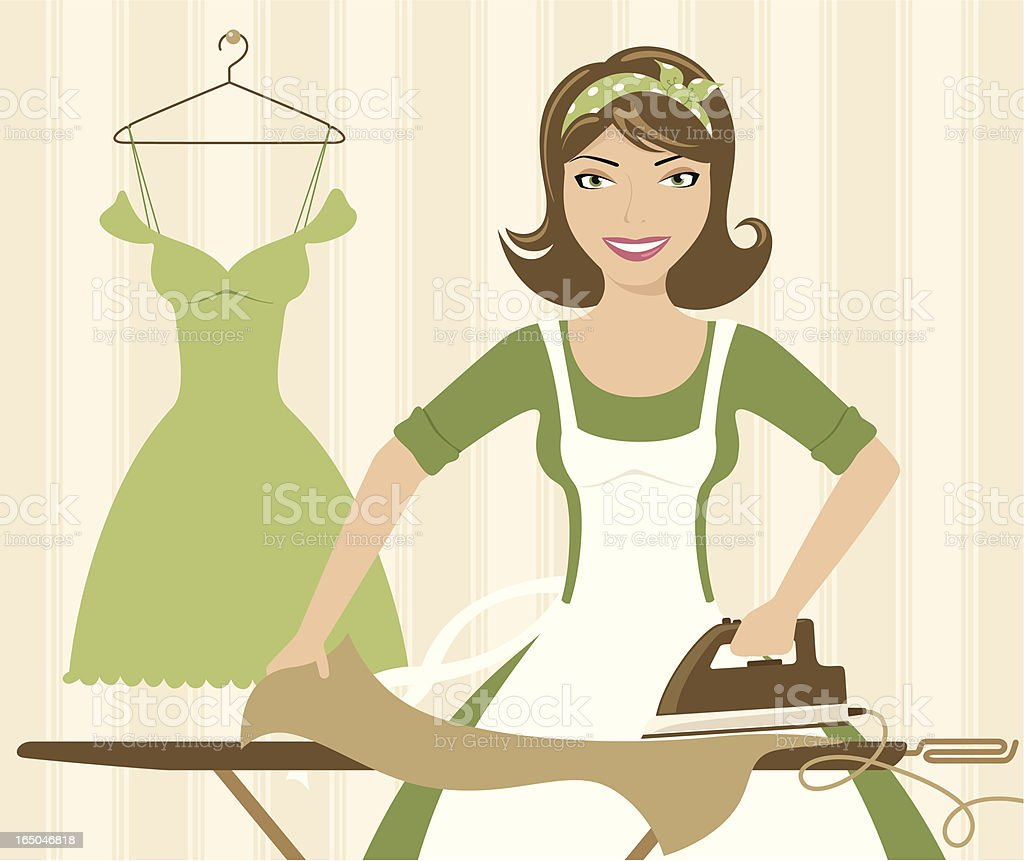 Ironing - incl. jpeg royalty-free ironing incl jpeg stock vector art & more images of adult