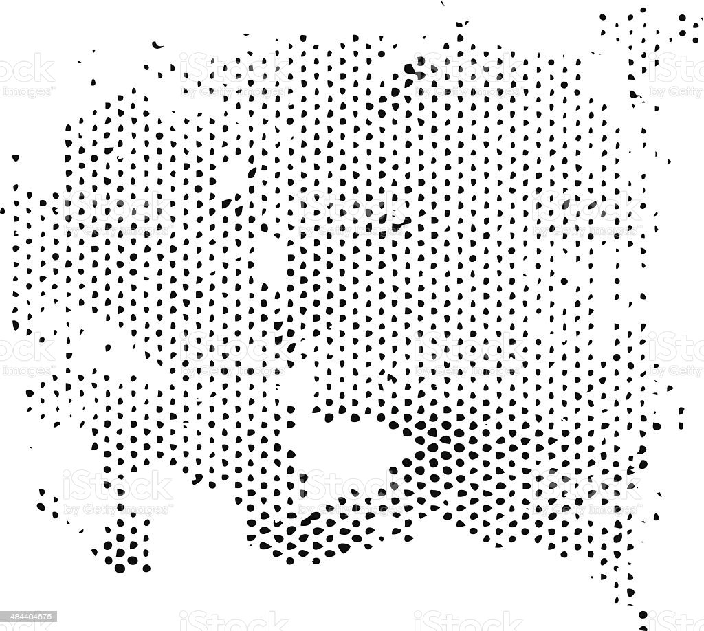 Line Art Vs Halftone : Irregular grunge halftone vector texture stock art