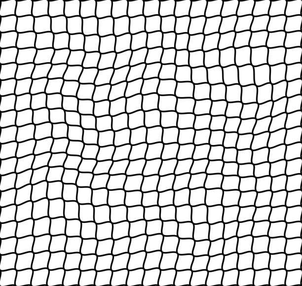 stockillustraties, clipart, cartoons en iconen met onregelmatige netto naadloze patroon vector - net