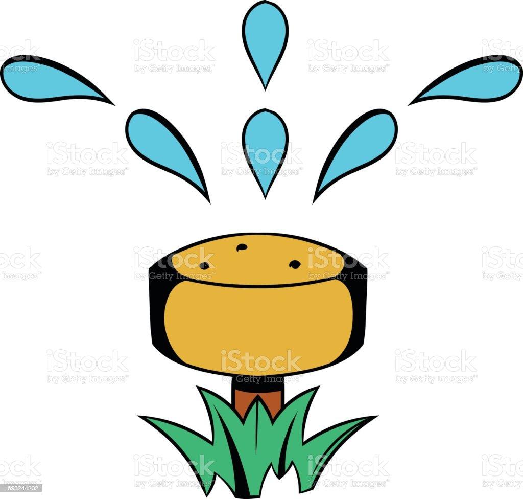 Dibujos de animados icono manguera de riego illustracion for Aspersores para riego de jardin