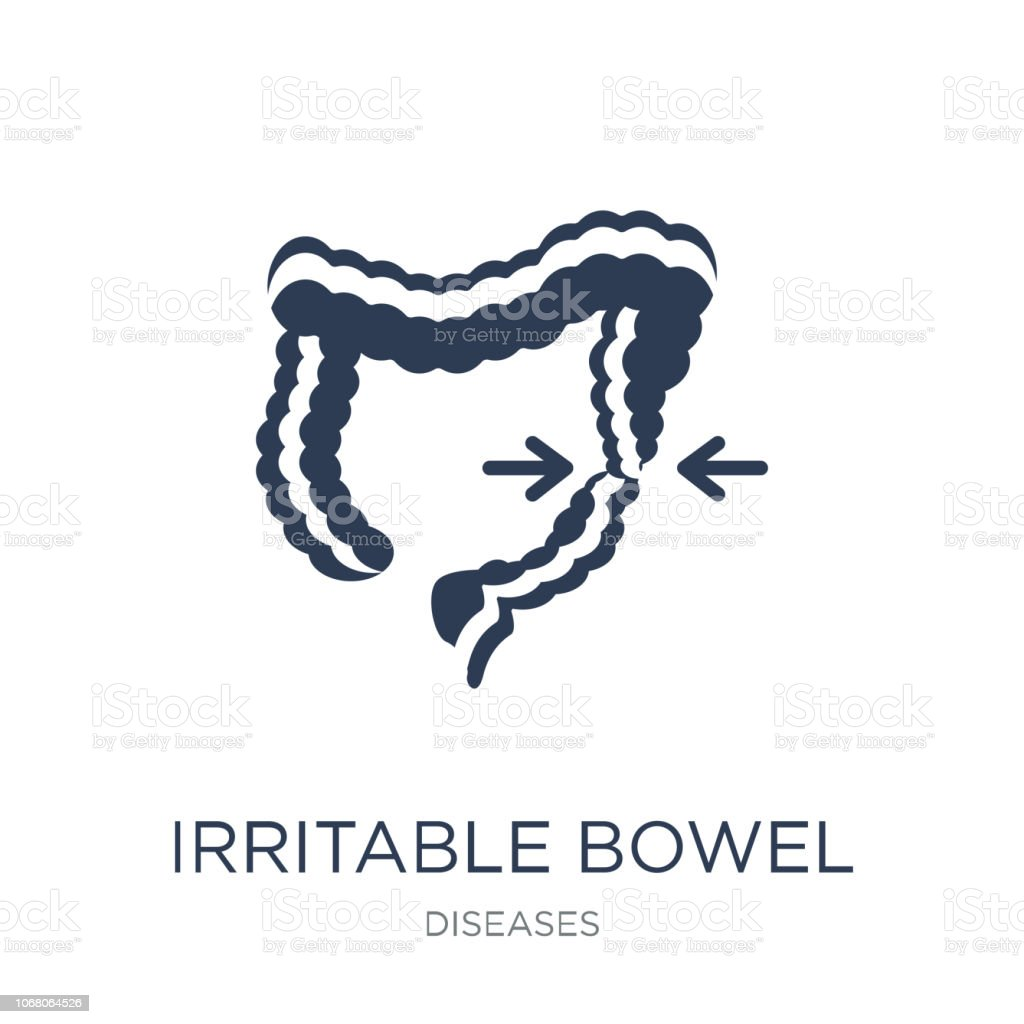 Irritable bowel syndrome icon. Trendy flat vector Irritable bowel syndrome icon on white background from Diseases collection vector art illustration