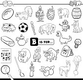B is for educational task coloring book