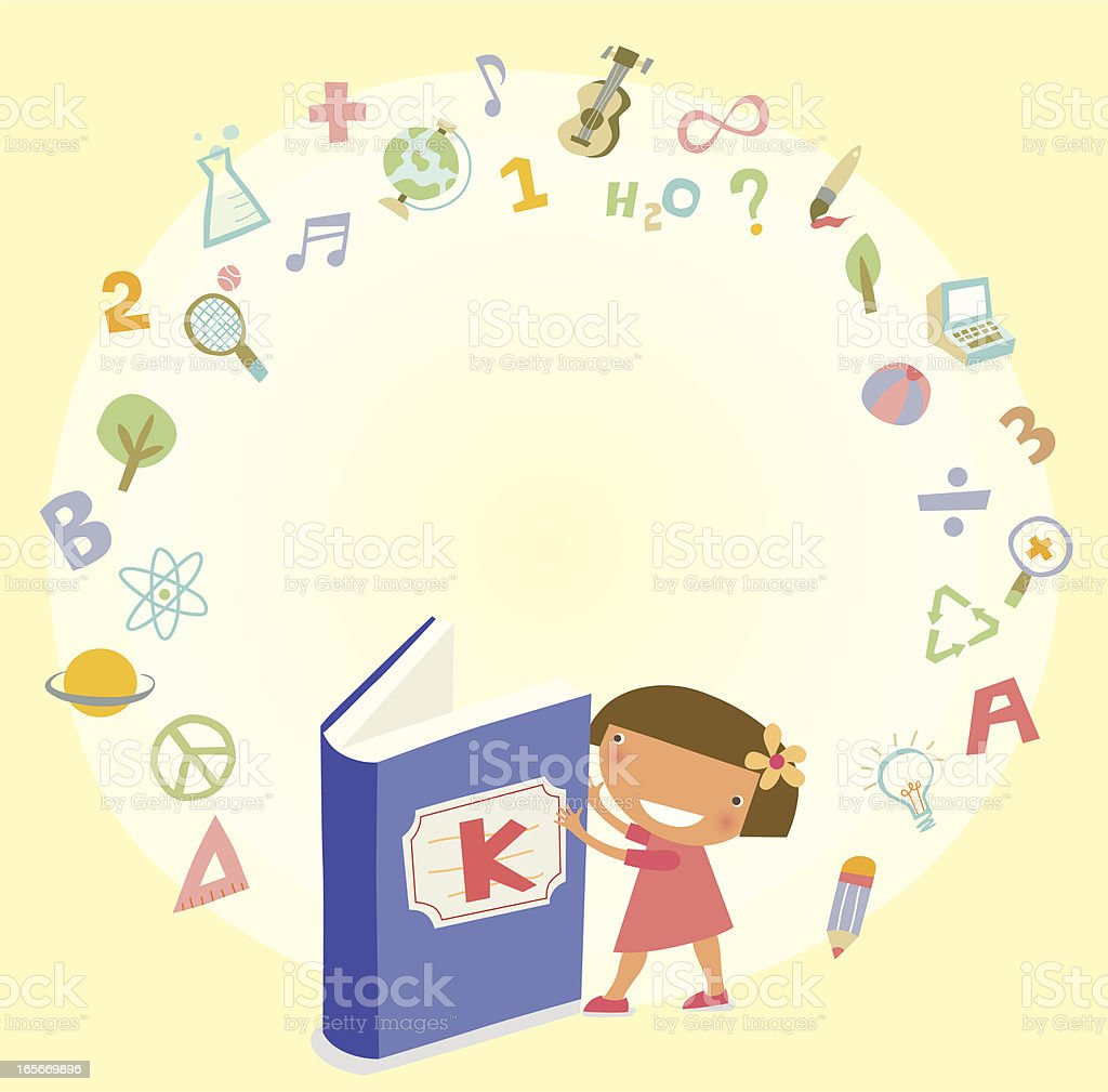 K is for Knowledge royalty-free stock vector art