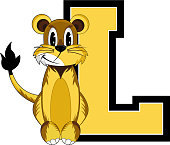 L is for Lion Educational Alphabet Learning Illustration - by Mark Murphy Creative