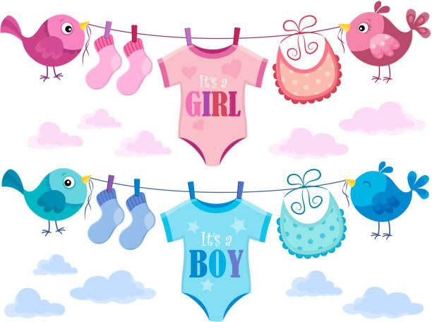 is it a girl or boy topic 3 - bodysuit stock-grafiken, -clipart, -cartoons und -symbole