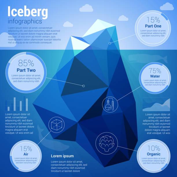Iseberg  low-polygonal infographics vector art illustration