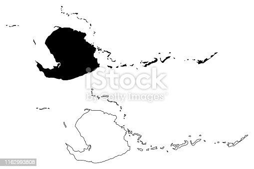 istock Isla de la Juventud (Republic of Cuba, Special Municipality of Cuba) map vector illustration, scribble sketch Isle of Pines map 1162993808