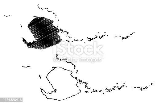 istock Isla de la Juventud (Republic of Cuba, Special Municipality of Cuba) map vector illustration, scribble sketch Isle of Pines map 1171320416
