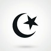 Islam icon in a simple style