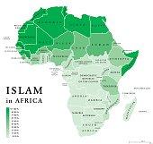Islam in Africa political map