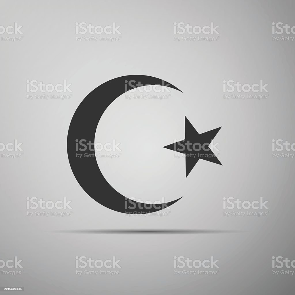 Islam Symbol Icon On Grey Background Stock Vector Art More Images