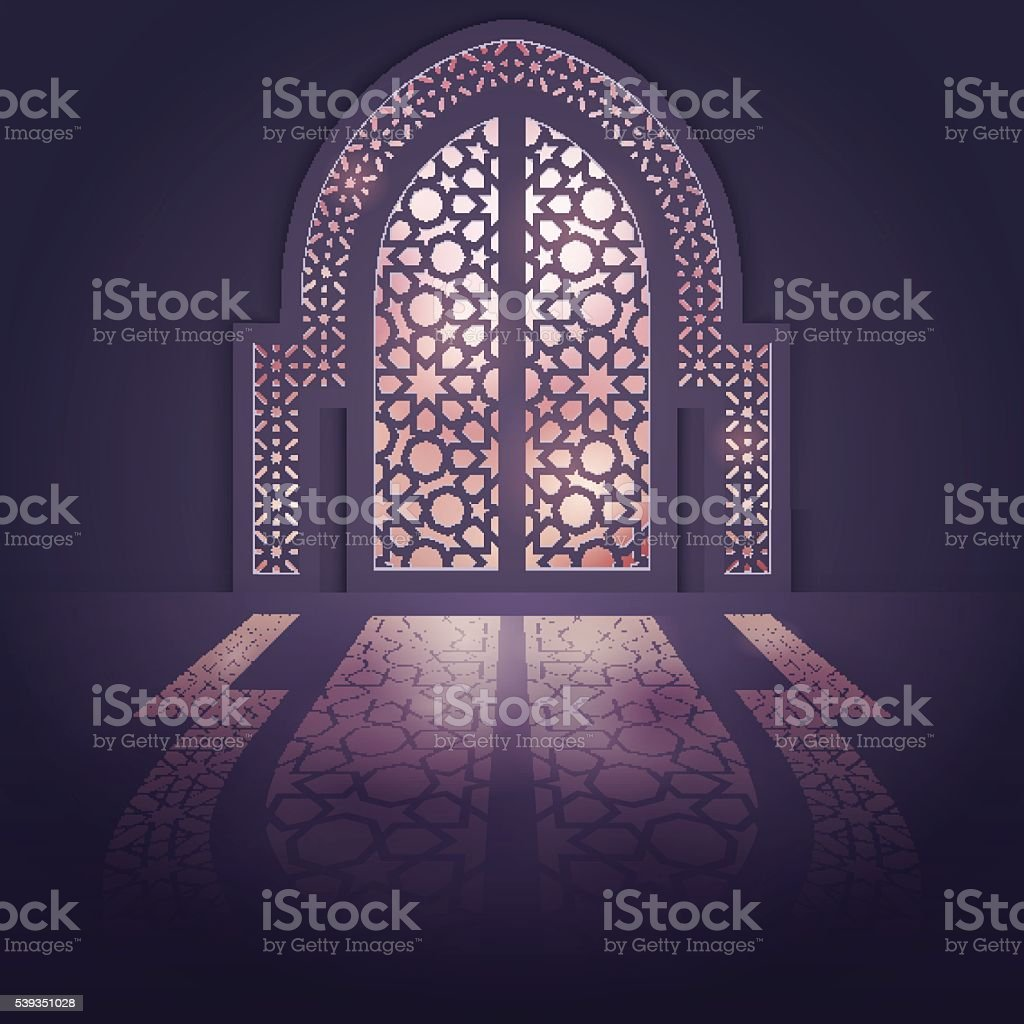 Islamic design background mosque door background with light arabic pattern royalty-free islamic design background  sc 1 st  iStock & Islamic Design Background Mosque Door Background With Light Arabic ...